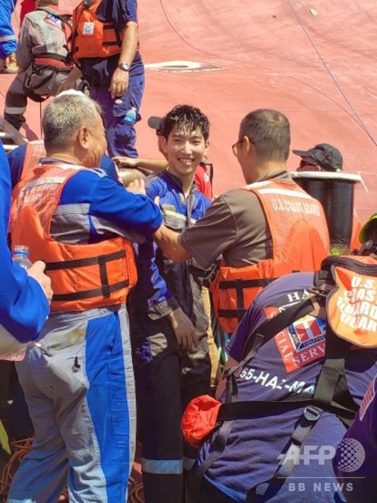 韓国の自動車運搬船が転覆、取り残された4人を救助 米ジョージア州沖