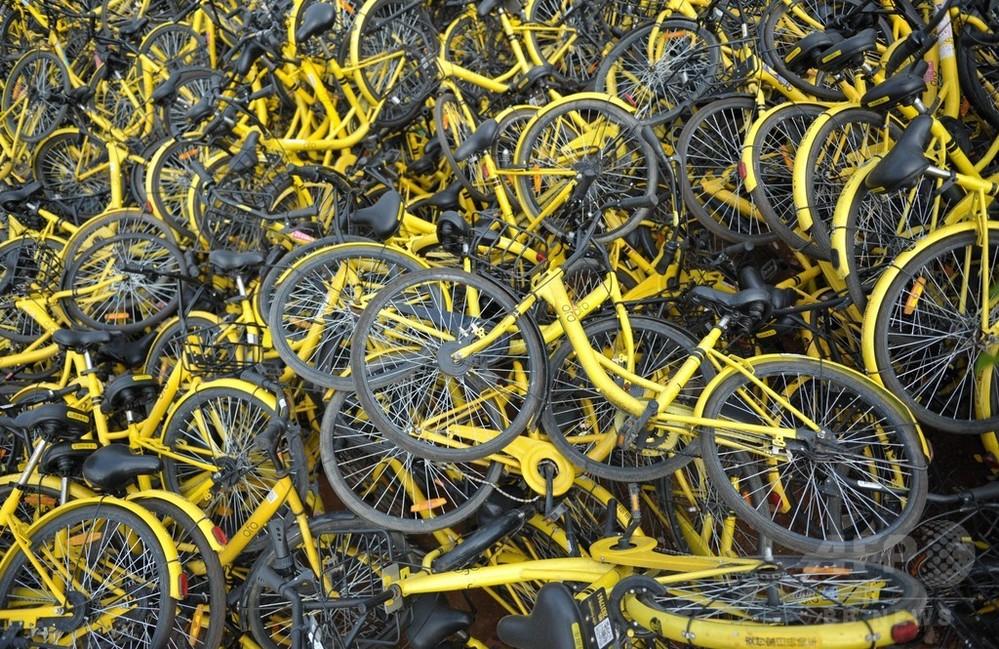 10台中4台が故障… 中国で「シェア自転車の墓場」問題深刻