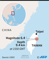 台湾東部でM6.4の地震、4人死亡 200人超負傷