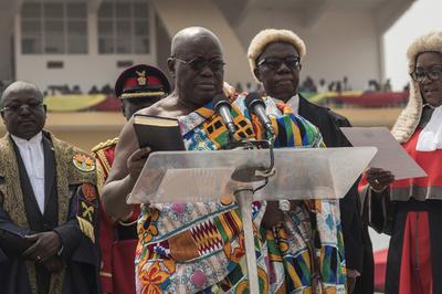 ガーナの新大統領、副大臣ら含め110人の内閣発足
