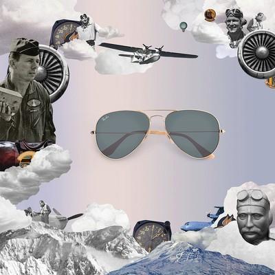 「レイバン」デュウェイ・サンダーとコラボ、ブランドの歴史を辿るコラージュムービー