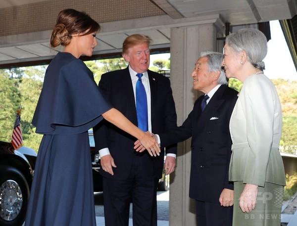 トランプ米大統領夫妻 天皇、皇后両陛下と会見