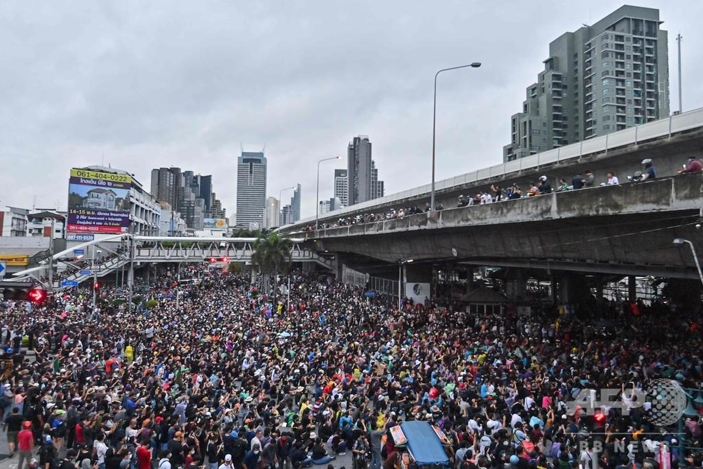 タイ・バンコク、きょうも大規模な集会 数千人が参加