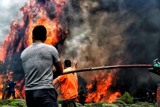 ギリシャ火災、警察・消防当局トップを解任 情報錯綜で死者増加か