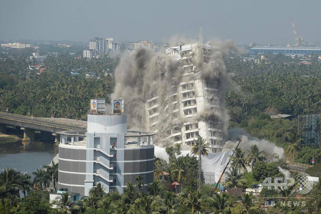 343世帯入居の高級高層マンション爆破、環境規制違反で インド