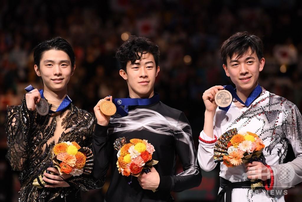 羽生は準優勝、チェンが衝撃の演技で世界フィギュア連覇達成