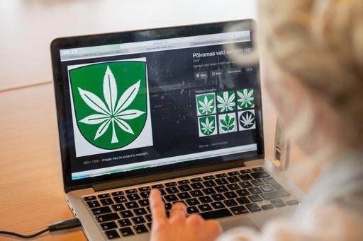 大麻の葉をシンボルマークや紋章に採用、エストニアの町