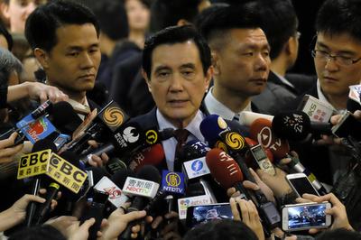 台湾の馬前総統に逆転有罪判決、情報漏えいで懲役4月