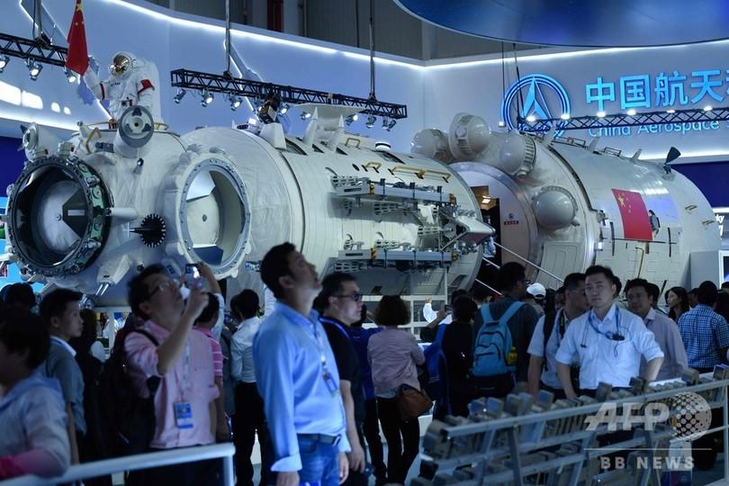中国、宇宙ステーション「天宮」を披露 ISSの後継目指す