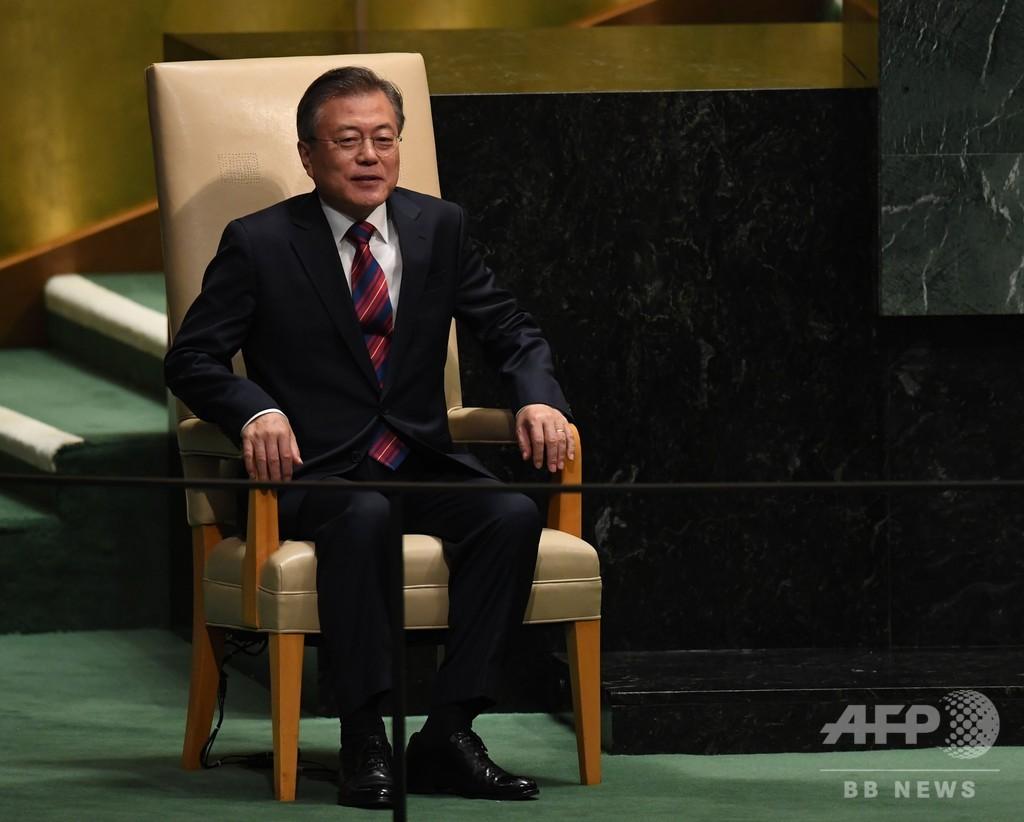 韓国大統領、終戦宣言の実現に向けた取り組みを米に要請