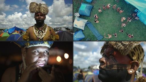 動画:ブラジル先住民、土地守るため国会前に集結 極右政権下で初