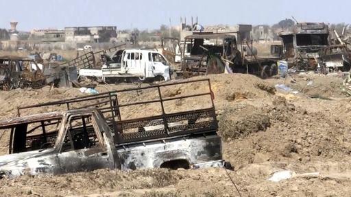 動画:戦闘員消え廃虚となったIS野営地 シリア
