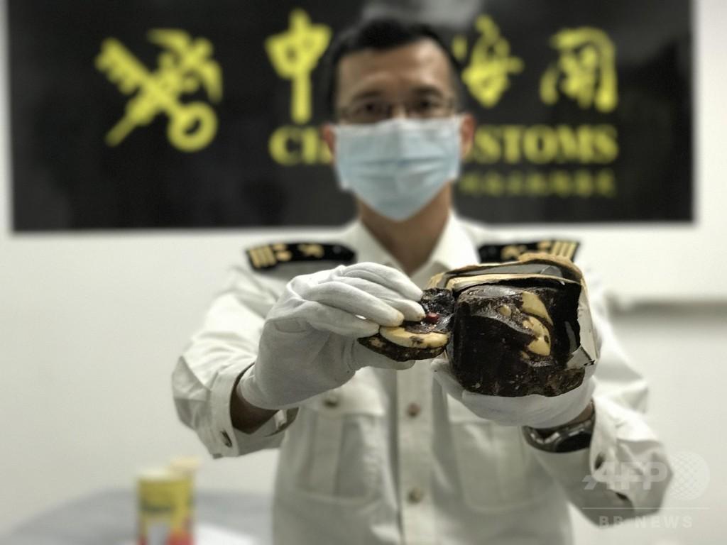 手作りチョコに象牙隠す 広州税関が摘発