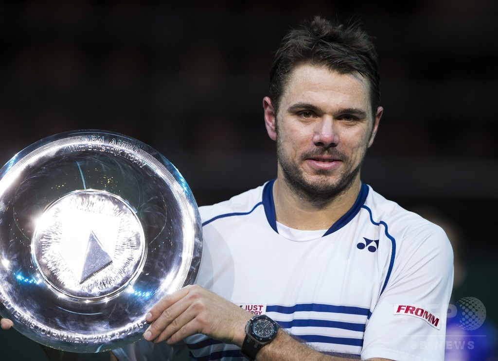 ワウリンカ、10年ぶりの出場で優勝 ABNアムロ世界テニストーナメント