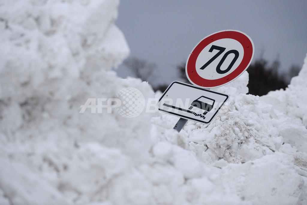 欧州の大寒波が南下、スペインで50年ぶりの雪となった地域も