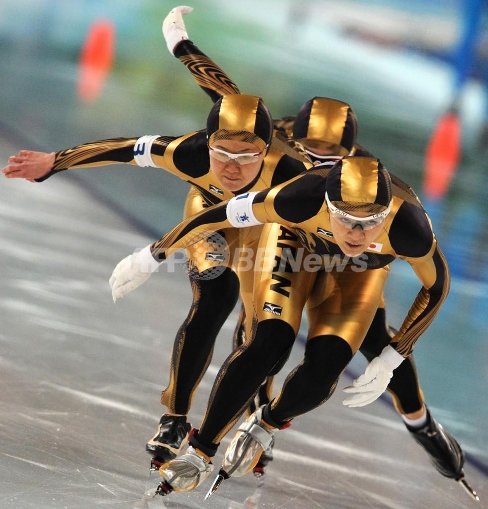女子団体追い抜き ドイツが金 日本は銀、バンクーバー冬季五輪