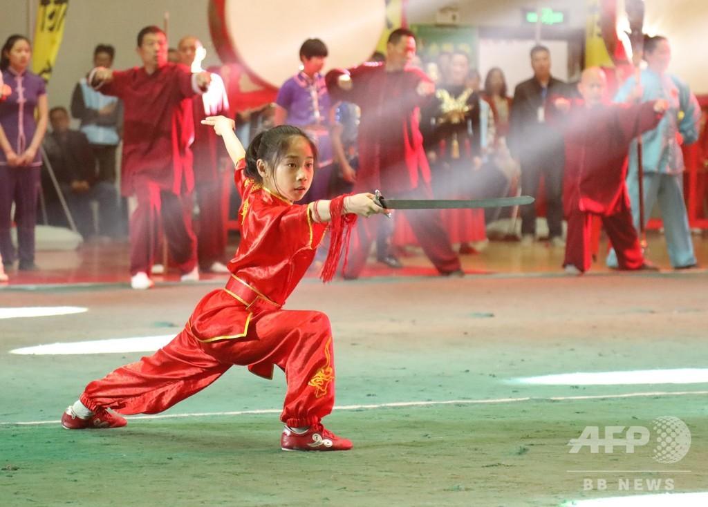 江蘇で武術大会 選手らが雄姿を競う