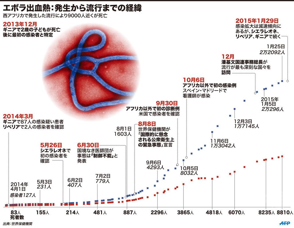 【図解】エボラ出血熱:発生から流行までの経緯
