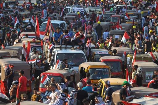 イラク首都で抗議デモ、治安部隊と衝突 発生から1か月