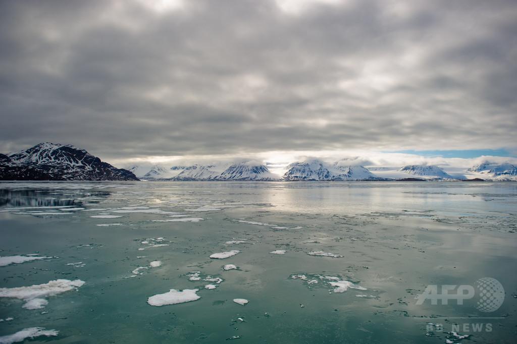 北極の冬季海氷面積、観測史上最低水準に 米報告書