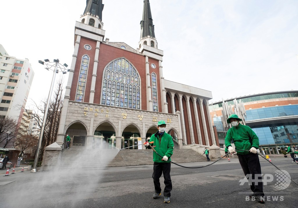 韓国、新型コロナ感染者1595人に 米韓合同軍事演習も延期