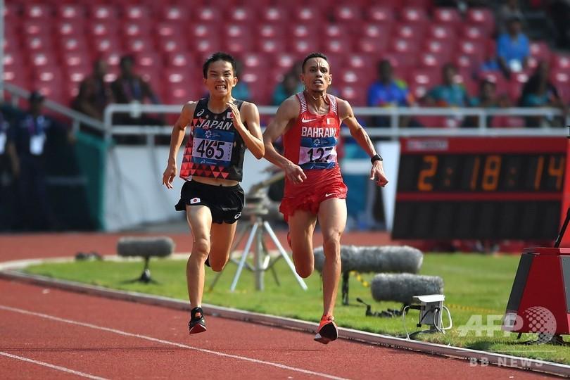 男子マラソン金の井上に「押しのけられた」、2位選手が物言い アジア大会