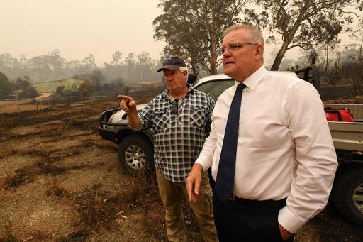 豪モリソン首相、森林火災対応に3000人の予備兵動員を発表