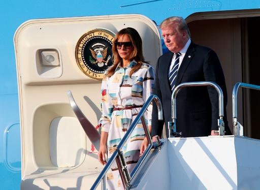 トランプ米大統領、東京に到着 財界人との会合に出席