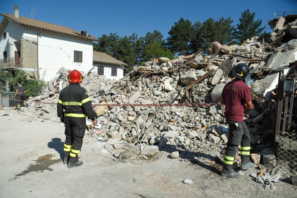 地震発生から16日、がれきから猫2匹を救出 イタリア