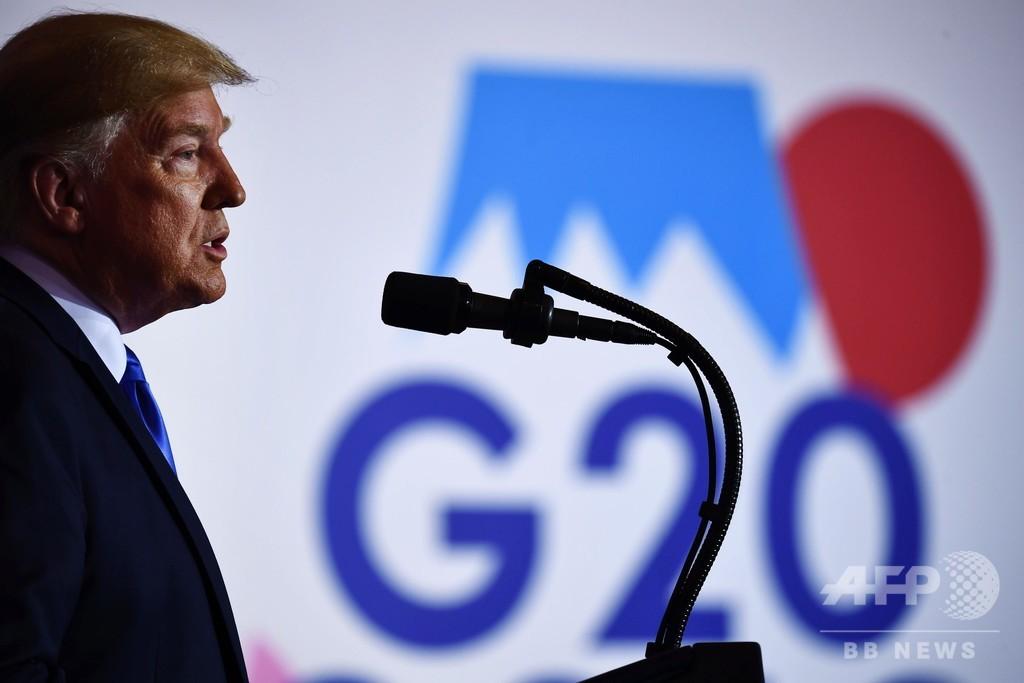 トランプ氏、G20後に会見 北朝鮮に足を踏み入れる可能性に言及