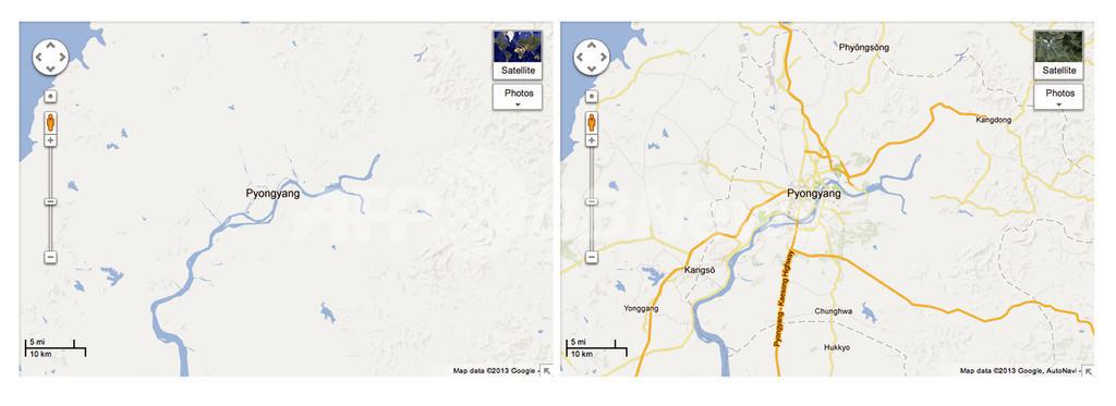 グーグルマップで北朝鮮地図が詳細に、強制収容所の場所も