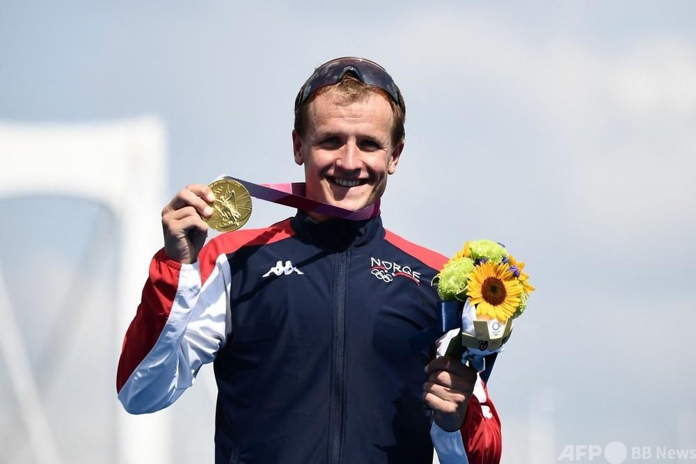 スタート混乱のトライアスロン男子、ブルメンフェルトが金メダル