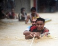 マニラで洪水、台風1