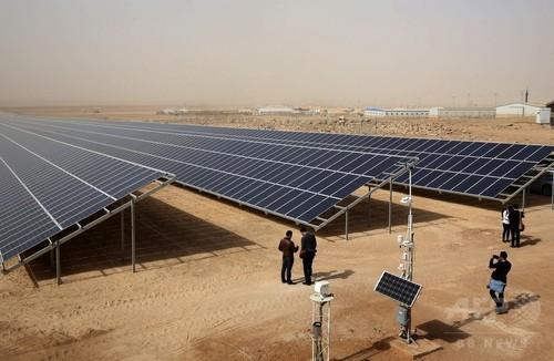ヨルダンの難民キャンプで太陽光発電所開設、この種としては世界最大