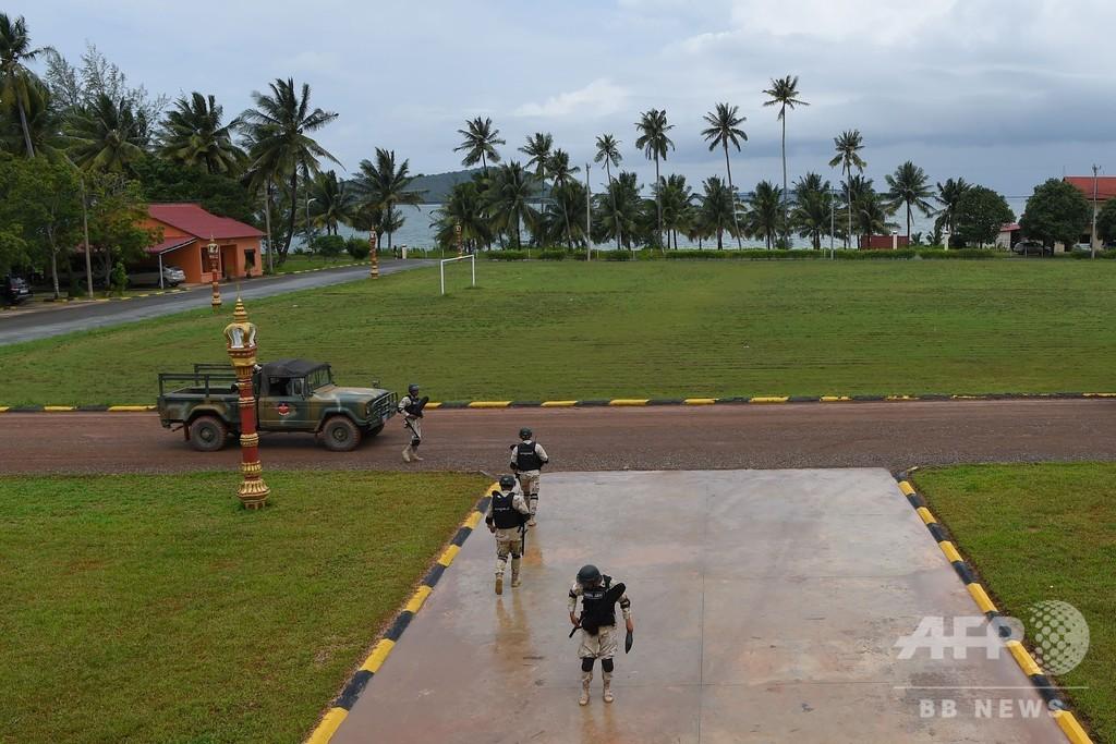 「隠す物ない」カンボジア、中国による基地使用を否定 報道陣に公開
