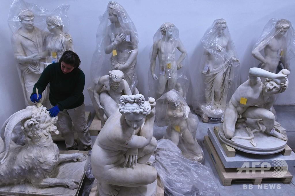 トルロニア家の古代彫刻コレクション、修復終え公開 イタリア