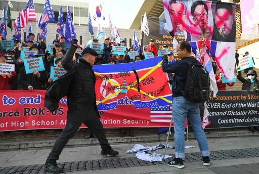 韓国・ソウルで反北朝鮮デモ