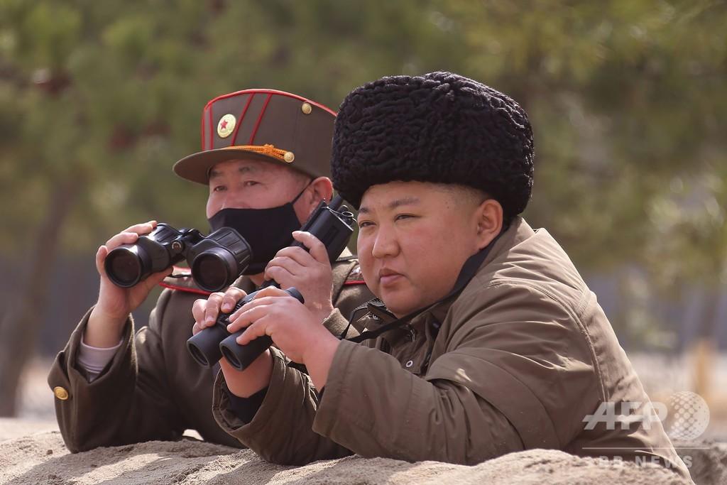 正恩氏、長距離砲兵の火力打撃訓練を「再び指導」 KCNA