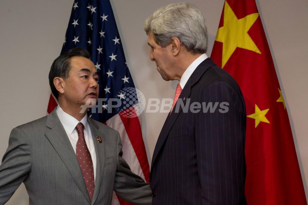 米国務長官、南シナ海の「行動規範」策定で中国をけん制