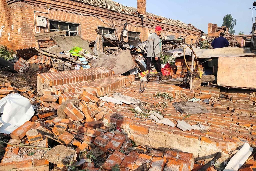 中国東北部で竜巻、6人死亡 200人近くが負傷