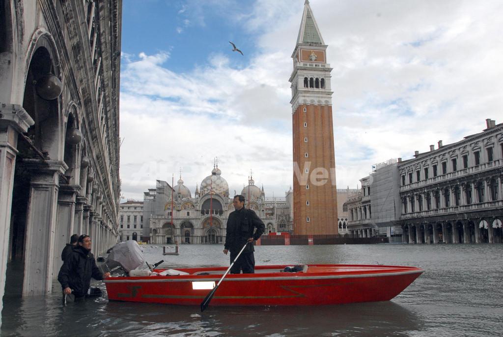 水の都ベネチア水没、過去20年で最悪の高潮