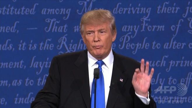 トランプ氏の「鼻すすり」 ネットで嘲笑相次ぐ 米大統領選討論会
