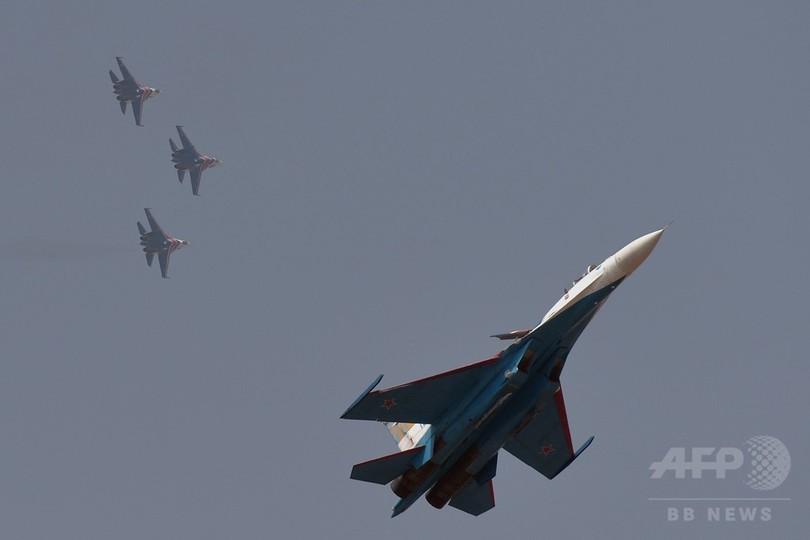 モスクワ近郊で戦闘機墜落、パイロット死亡