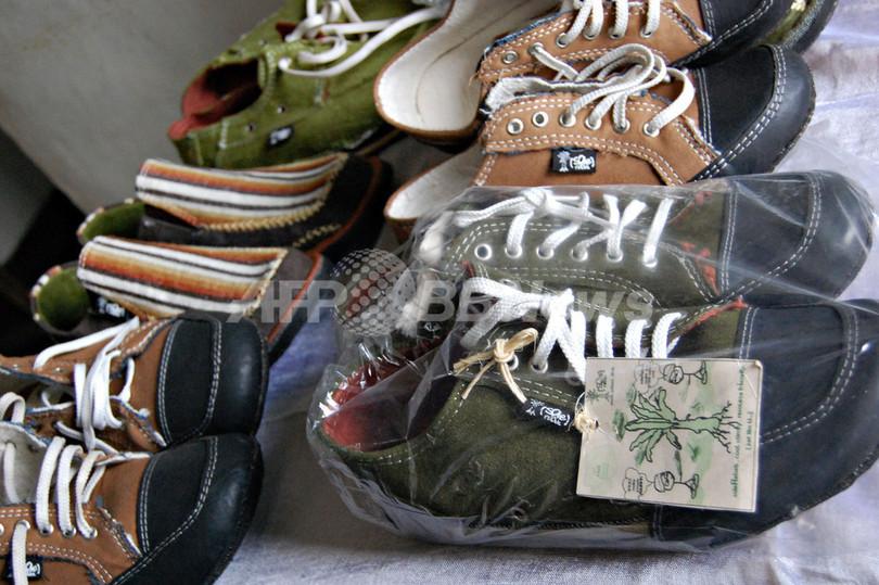 「アフリカ版ナイキ」の靴は古タイヤ製、エチオピア