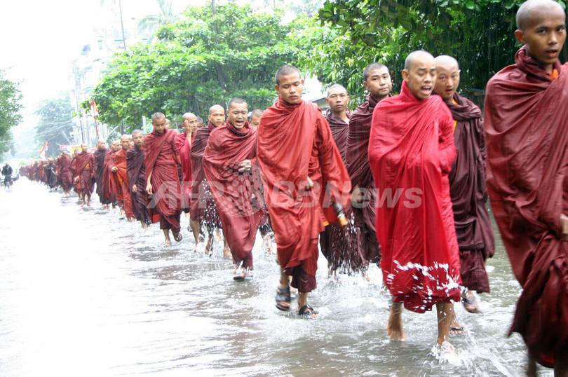 ミャンマー仏僧による反軍事政権...