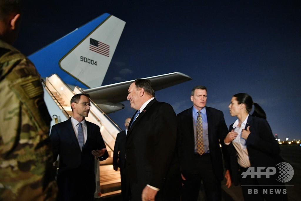 米国務長官がイラク電撃訪問 イラン情勢めぐり米国民保護を協議