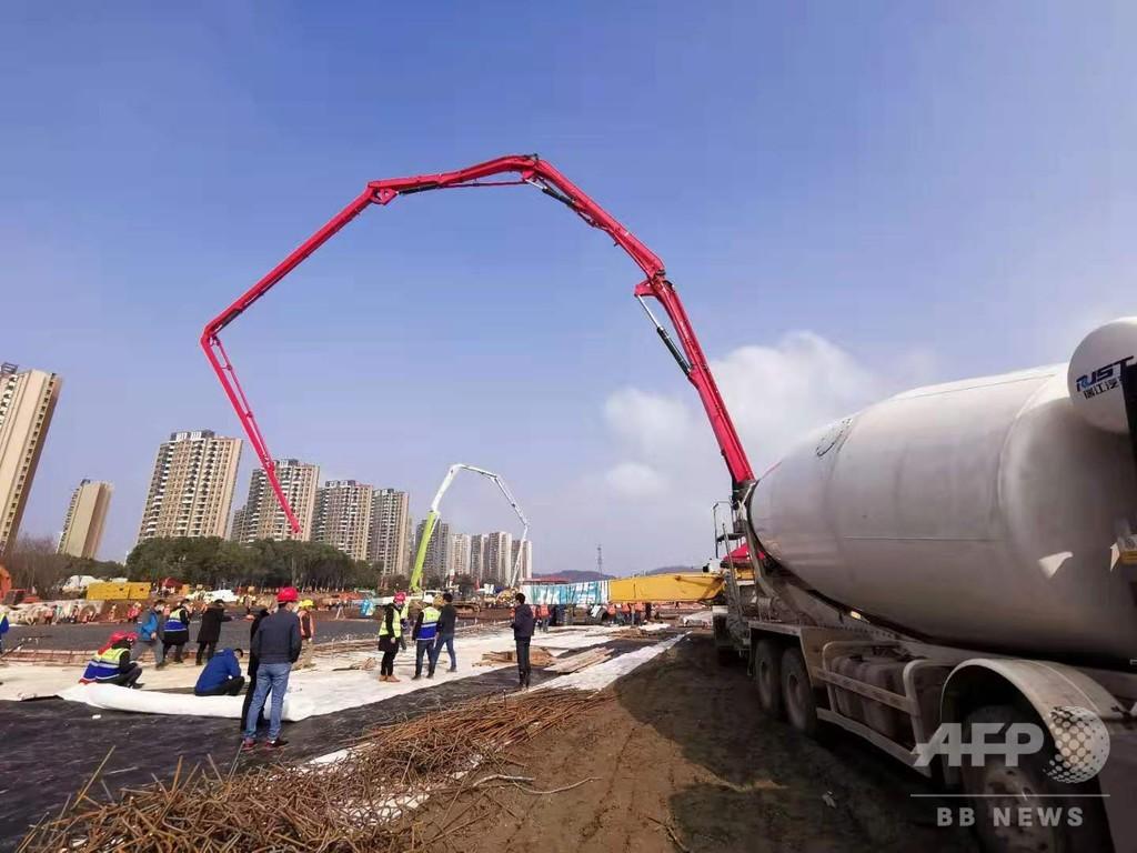 指令から3日で5G整備完了、遠隔治療が可能に 武漢市で建設進む肺炎専門病院