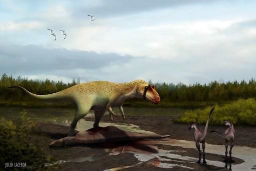 ティラノサウルス類も恐れた大型肉食恐竜、米国で化石発見