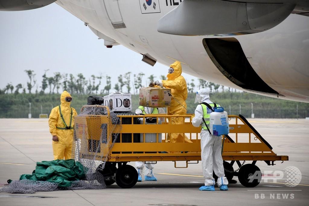 中国・武漢で国際線の運航再開 8か月ぶり