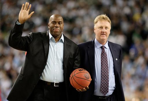 マジック氏とバード氏に生涯功労賞、NBAが発表
